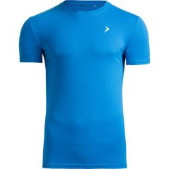 T-shirt męski TSM601 - niebieski - Outhorn. Niebieskie t-shirty męskie Outhorn, na lato, m, z bawełny. W wyprzedaży za 29,99 zł.
