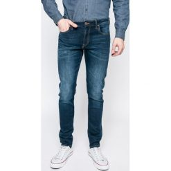 Lee - Jeansy Malone. Niebieskie jeansy męskie skinny Lee, z aplikacjami, z bawełny. W wyprzedaży za 269,90 zł.