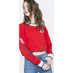 Nike Sportswear - Bluza dwustronna. Czerwone bluzy rozpinane damskie Nike Sportswear, l, z nadrukiem, z bawełny, bez kaptura. W wyprzedaży za 219,90 zł.