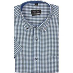 Koszula bexley 2317 krótki rękaw custom fit zielony. Zielone koszule męskie na spinki Recman, na lato, m, w kratkę, z bawełny, button down, z krótkim rękawem. Za 29,99 zł.