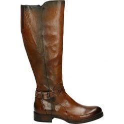 Kozaki - 10265 MUR CIN. Czarne buty zimowe damskie marki Venezia, z materiału, na obcasie. Za 999,00 zł.