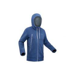Kurtka polarowa turystyczna SH100 ultra-warm męska. Niebieskie kurtki męskie QUECHUA, m, z polaru. Za 129,99 zł.