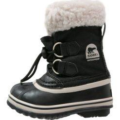 Sorel YOOT PAC Śniegowce black. Czarne buty zimowe chłopięce Sorel, z materiału. W wyprzedaży za 191,40 zł.