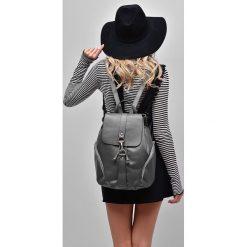 Plecaki damskie: Skóra naturalna – szary plecak SARA