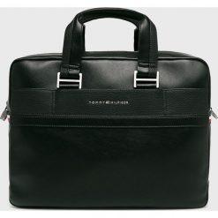 Tommy Hilfiger - Torba. Czarne torby na laptopa TOMMY HILFIGER, w paski, z materiału. Za 749,90 zł.