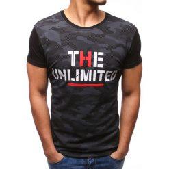 T-shirty męskie z nadrukiem: T-shirt męski z nadrukiem czarny (rx2754)