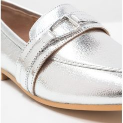 Creepersy damskie: Office LEER Półbuty wsuwane silver