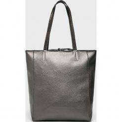 Answear - Torebka. Szare torebki klasyczne damskie ANSWEAR, z materiału, duże. Za 129,90 zł.
