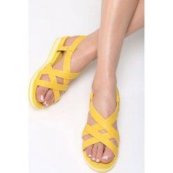 Sandały damskie: Żółte Sandały Lapwing