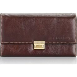 Portfele męskie: Elegancki brązowy duży portfel ze skóry HAROLD`S