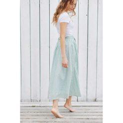 Długie spódnice: Spódnica Idalia w zielone prążki 32