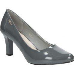 Szare czółenka lakierowane na słupku Sergio Leone 1459. Czarne buty ślubne damskie marki Sergio Leone. Za 95,99 zł.