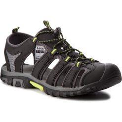 Sandały męskie skórzane: Sandały HI-TEC – Eritio AVSSS18-HT-01-Q2 Black/Lime