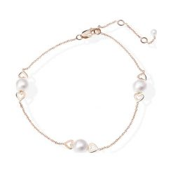 Bransoletki damskie: Złota bransoletka z perłami
