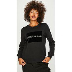 Calvin Klein Jeans - Bluza. Czarne bluzy rozpinane damskie Calvin Klein Jeans, l, z jeansu. Za 399,90 zł.