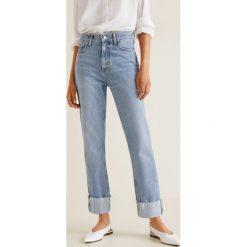 Mango - Jeansy Urban. Niebieskie jeansy damskie relaxed fit marki Reserved. Za 199,90 zł.
