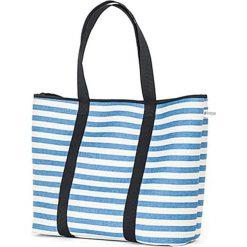 Torba plażowa w kolorze biało-niebieskim - (S)52 x (W)35 x (G)14 cm. Białe torebki klasyczne damskie Pijama, z materiału. W wyprzedaży za 179,95 zł.