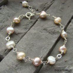 Bransoletki damskie: Perły w pastelach – bransoletka