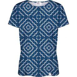 Colour Pleasure Koszulka damska CP-030 181 granatowo-biała r. XL/XXL. Białe bluzki damskie marki Colour pleasure, xl. Za 70,35 zł.