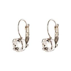 Kolczyki damskie: Posrebrzane kolczyki z kryształkami Swarovski