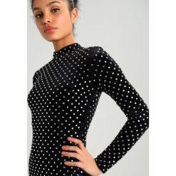 Missguided HOTFIX HIGH NECK BODYCON DRESS Sukienka koktajlowa black. Czarne sukienki koktajlowe marki Missguided, z elastanu, bodycon. W wyprzedaży za 503,20 zł.