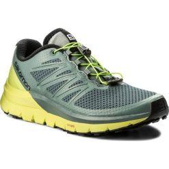 Buty SALOMON - Sense Pro Max 402411 27 W0 Stormy Weather/Acid Lime/Black. Szare buty do biegania męskie Salomon, z materiału. W wyprzedaży za 419,00 zł.