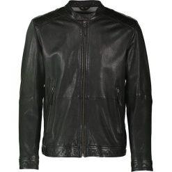 """Kurtki męskie bomber: Skórzana kurtka """"Ghost Rider"""" w kolorze czarnym"""