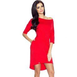 Sukienki: Monica – sukienka dzienna przysłaniająca niedoskonałości czerwony