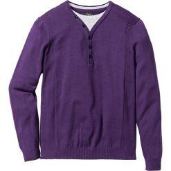 Swetry męskie: Sweter 2 w 1 Regular Fit bonprix jagodowy