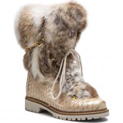 Kozaki NEW ITALIA SHOES - 1915400B/2 Nude. Brązowe buty zimowe damskie New Italia Shoes, z lakierowanej skóry. Za 1839,00 zł.