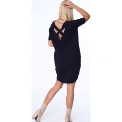 Sukienki: Granatowa Sukienka Bombka 3380