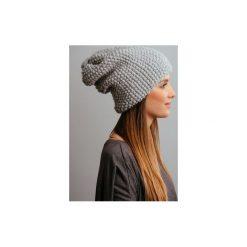 Czapki zimowe damskie: POMPOM – szara czapka oversize