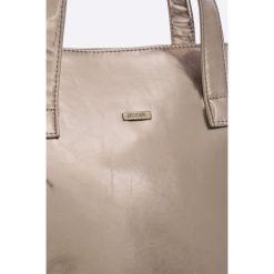 Answear - Torebka UR Your Only Limit. Szare torebki klasyczne damskie marki ANSWEAR, w paski, z materiału, duże. W wyprzedaży za 79,90 zł.
