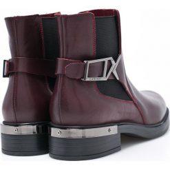 Carinii - Botki. Czarne buty zimowe damskie Carinii, z materiału, z okrągłym noskiem. W wyprzedaży za 269,90 zł.