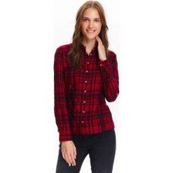 Koszule damskie: KOSZULA DŁUGI RĘKAW DAMSKA, OBCISŁA NA ZATRZASKI W KRATĘ