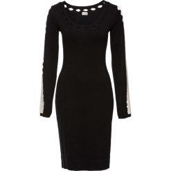 Sukienka dzianinowa bonprix czarno-biały. Czarne sukienki dzianinowe bonprix. Za 99,99 zł.