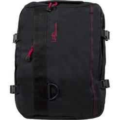 """Plecak """"Catane"""" w kolorze czarnym - 31 x 42 x 18 cm. Czarne plecaki męskie Les P'tites Bombes, w paski, z tkaniny. W wyprzedaży za 86,95 zł."""