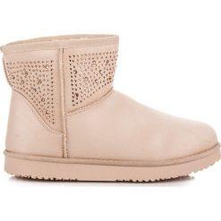 Beżowe śniegowce SKYLA. Białe buty zimowe damskie marki Merg. Za 79,00 zł.