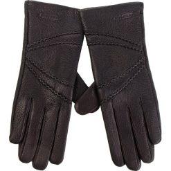 Rękawiczki Damskie WITTCHEN - 44-6-512-1 Czarny. Czarne rękawiczki damskie Wittchen, ze skóry. Za 189,00 zł.