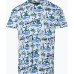 Review - T-shirt męski, czarny. Niebieskie t-shirty męskie z nadrukiem marki Review. Za 59,95 zł.
