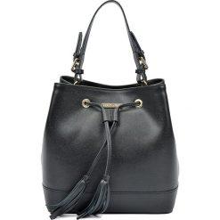 Torebki klasyczne damskie: Skórzana torebka w kolorze czarnym – 27 x 29 x 17,5 cm