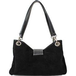 Torebki i plecaki damskie: Skórzana torebka w kolorze czarnym – 26,5 x 18 x 12 cm