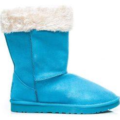 Mukluki śniegowce ciepłe za kostkę Niebieskie. Niebieskie buty zimowe damskie TORNA, za kostkę. Za 49,00 zł.