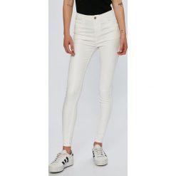 Answear - Jeansy. Białe jeansy damskie rurki ANSWEAR, z bawełny. Za 119,90 zł.