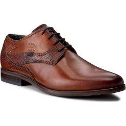 Półbuty BUGATTI - 311-16304-2500-6300 Cognac. Brązowe buty wizytowe męskie Bugatti, z materiału. Za 349,00 zł.