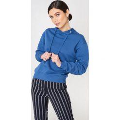 NA-KD Basic Bluza z kapturem basic - Blue. Niebieskie bluzy rozpinane damskie NA-KD Basic, z długim rękawem, długie, z kapturem. Za 100,95 zł.