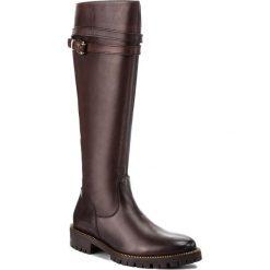 Oficerki GINO ROSSI - Riccia DKG204-G47-4300-4000-F 89. Czarne buty zimowe damskie marki Gino Rossi, z materiału, na obcasie. W wyprzedaży za 629,00 zł.