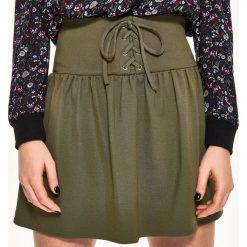 Spódniczki: Spódniczka z gorsetowym pasem – Zielony