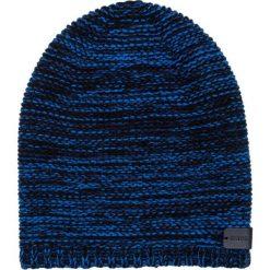 Czapka CZN0000019. Brązowe czapki zimowe męskie Giacomo Conti, z aplikacjami, z wełny. Za 109,00 zł.