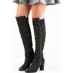 ELEGANCKIE ZAMSZOWE MUSZKIETERKI VINCEZA. Czarne buty zimowe damskie Vinceza, z zamszu. Za 189,00 zł.